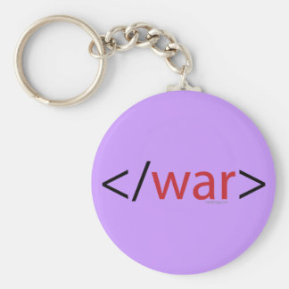 HTML End War Keychain