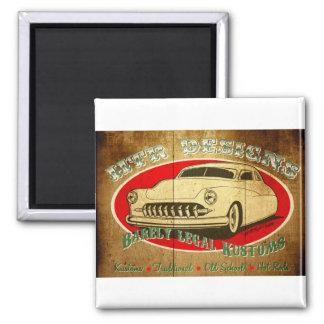 HTR Designs Barely Legal Kustoms Garage Magnet