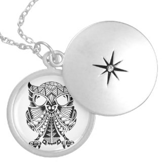 HTTD Pueo / Owl protection neclace Round Locket Necklace