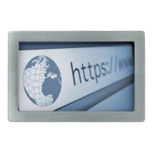 Http Address Rectangular Belt Buckle