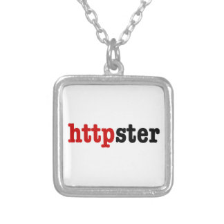httpster silver plated necklace