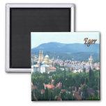 HU - Hungary - Eger - Panorama 2 Inch Square Magnet