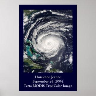 HU Jeanne MODIS Image Poster