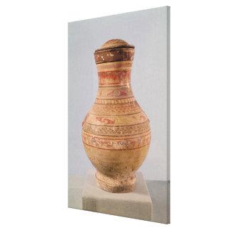 Hu' vase with lid canvas print