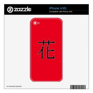 huā - 花 (flower/pattern) iPhone 4S decal