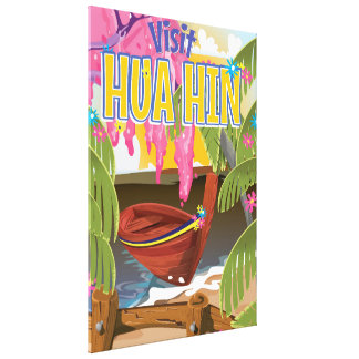 Hua Hin Thailand travel poster Canvas Print