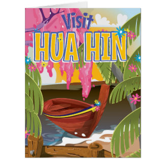 Hua Hin Thailand travel poster Card