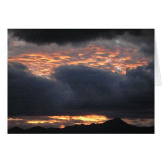 Huachuca Mt Sunset - Note Card