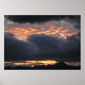 Huachuca Mt. Sunset - Poster print