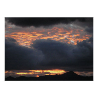 Huachuca Mt. Sunset - Poster