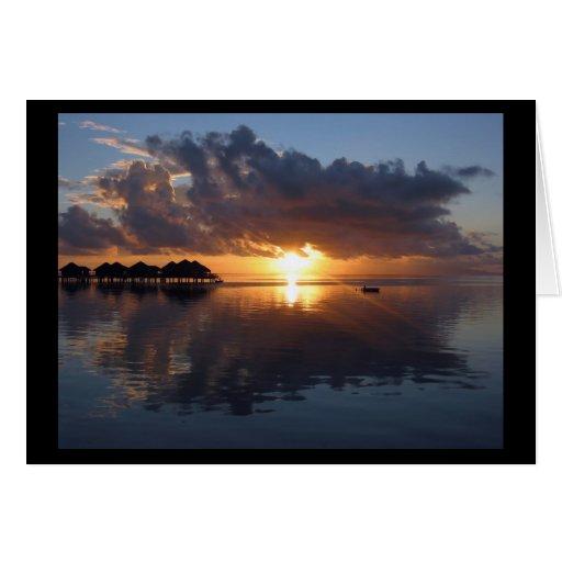 Huahine Sunset Card