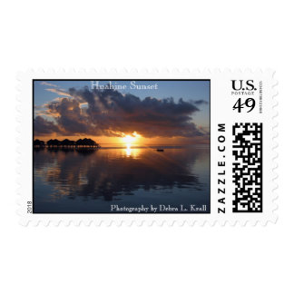 Huahine Sunset Postage
