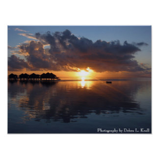 Huahine Sunset Poster