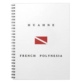 Huahne French Polynesia Scuba Dive Flag Notebook