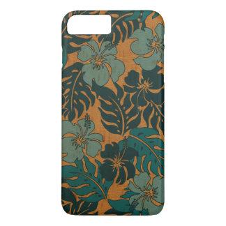 Huakini Bay Hawaiian Hibiscus Vintage Faux Wood iPhone 7 Plus Case