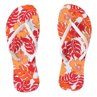 Huakini Bay Hawaiian Hibiscus Vintage Fl Flip Flops