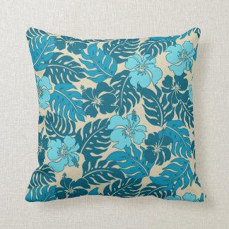Huakini Bay Hawaiian Hibiscus Vintage Floral Throw Pillows