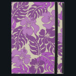 """Huakini Bay Hawaiian Tropical Tonal iPad Pro 12.9&quot; Case<br><div class=""""desc"""">Tonal violet colorway. Inspired by the board shorts and aloha shirts of the fifties and sixties,  this pattern combines hibiscus flowers in a range of beautiful blend of colors reminiscent of a Hawaiian sunset. This design comes in several colorways.</div>"""