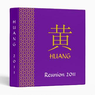 Huang Monogram 3 Ring Binder