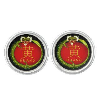 Huang Monogram Dragon Cufflinks