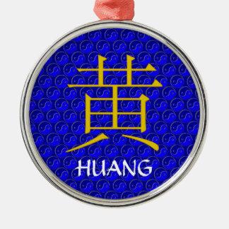 Huang Monogram Metal Ornament