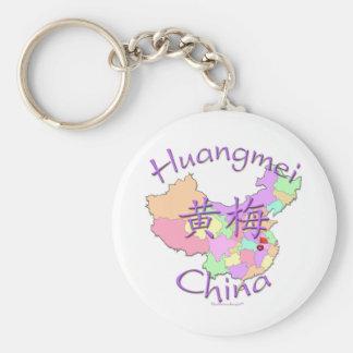 Huangmei China Basic Round Button Keychain