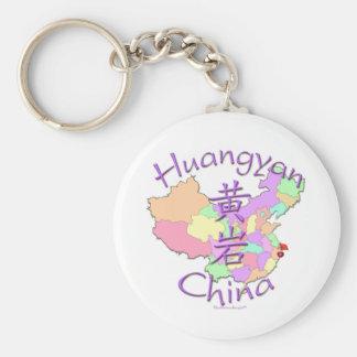 Huangyan China Basic Round Button Keychain