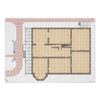 Huanted House, First Floor, a game map. Poster