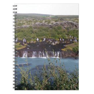 Huaranfossar waterfall designed notebook