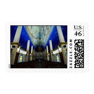 Huatulco church 1 stamp