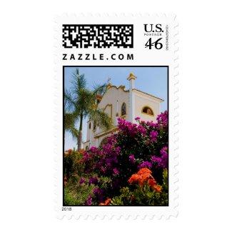 Huatulco church 3 stamp