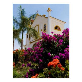 Huatulco church 3 postcard