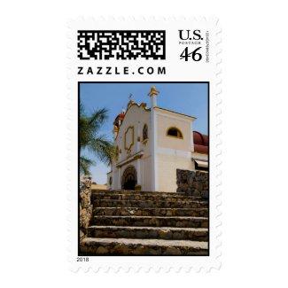 Huatulco church 4 stamp