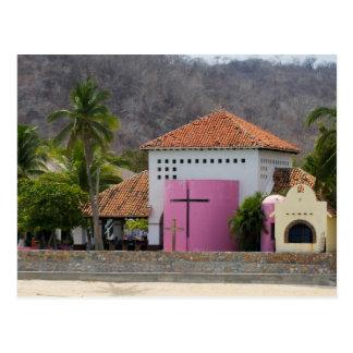Huatulco church 5 postcard