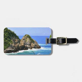 Huatulco coastline travel bag tags