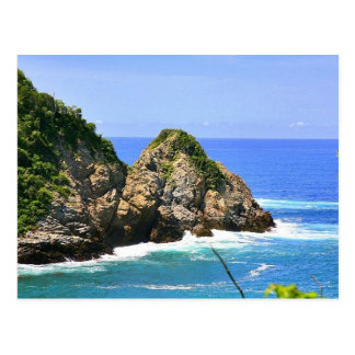 Huatulco coastline postcard