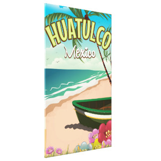 Huatulco Mexican travel poster Canvas Print