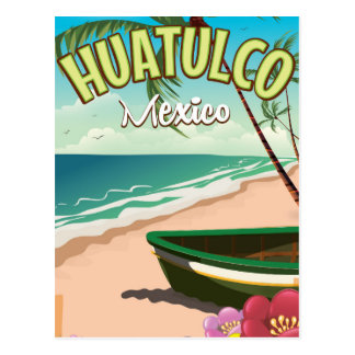 Huatulco Mexican travel poster Postcard