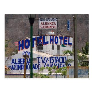 Huatulco street 4 postcard