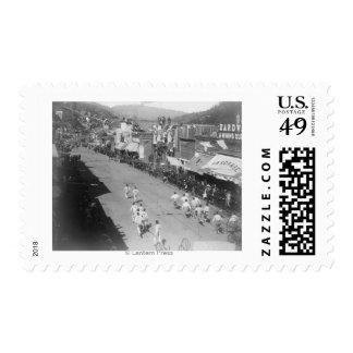 Hub-and-Hub Hose Team Race Photograph Stamp