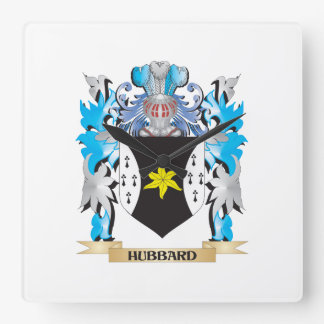 Hubbard Coat of Arms - Family Crest Square Wallclocks