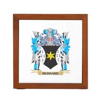 Hubbard Coat of Arms - Family Crest Desk Organizers
