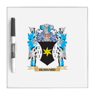 Hubbard Coat of Arms - Family Crest Dry-Erase Boards