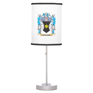 Hubbard Coat of Arms - Family Crest Table Lamps