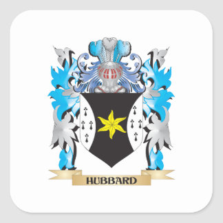 Hubbard Coat of Arms - Family Crest Square Sticker