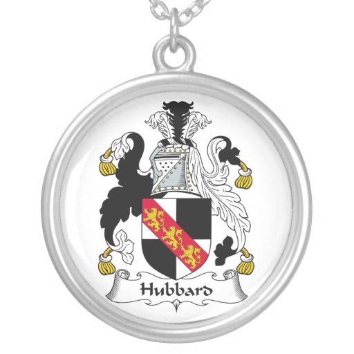 Hubbard Family Crest Round Pendant Necklace