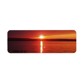 Hubbard Lake Sunset Label