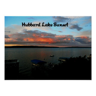 Hubbard Lake Sunset Poster
