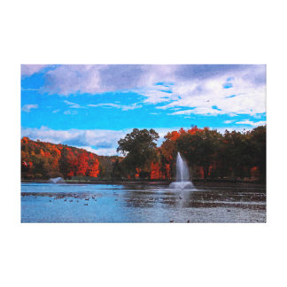 Hubbard Park digital painting wrapped canvas