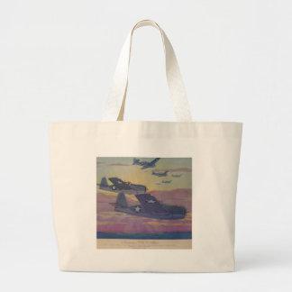 Hubbell's Grumman Fi6 Hellcat Large Tote Bag